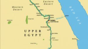 Ancient Egyptian Map - Upper Egypt