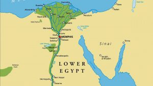 Ancient Egyptian Map - Lower Egypt