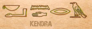 Ancient Egyptian Name Translator - Kendra in hieroglyphs