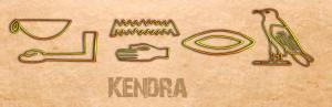 Ancient Egyptian Name Translator - Kendra in hieroglyphs