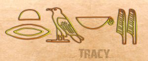 Ancient Egyptian Name Translator - Tracy in hieroglyphs